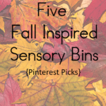PINTEREST PICKS: Five Fall Inspired Sensory Boxes