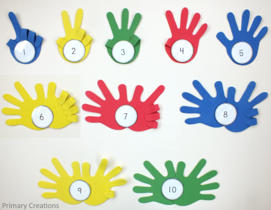 Foam Hands Counting