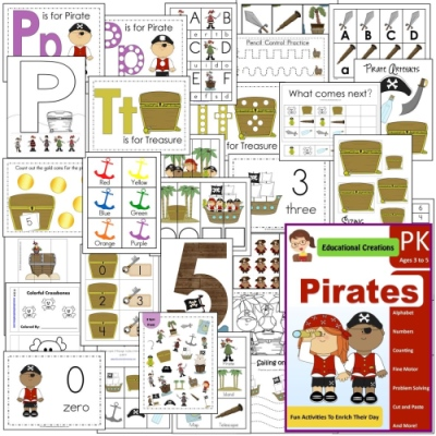 Pirates Preschool Pack