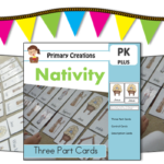 Christmas Nativity Three Part Cards