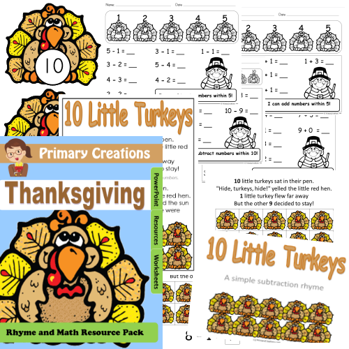 Thanksgiving Turkey Maths