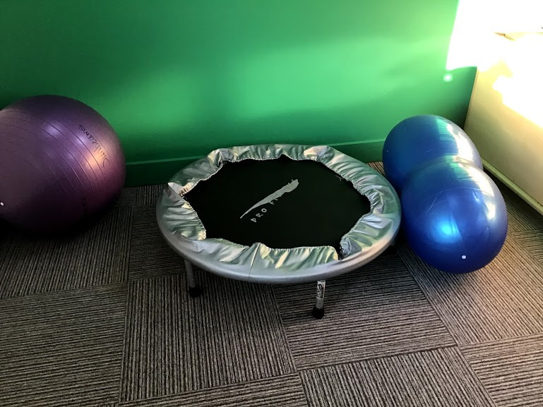 Sensory area in an autism classroom